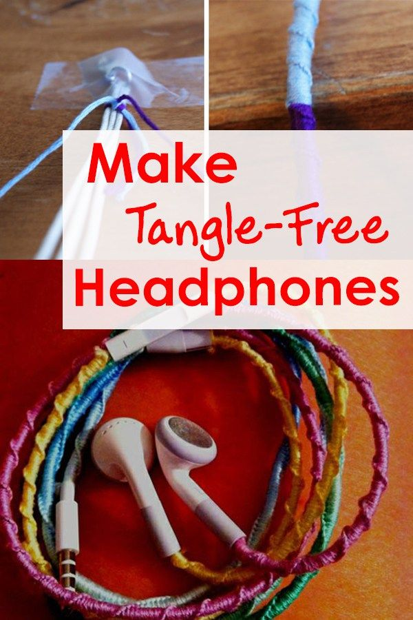 Make Tangle-Free Headphones using the Chinese Staircase friendship bracelet technique