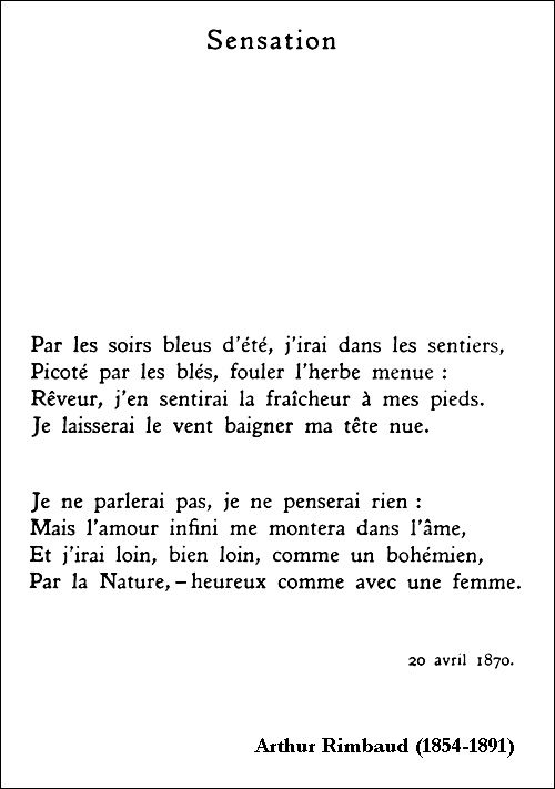 Arthur Rimbaud - Sensation