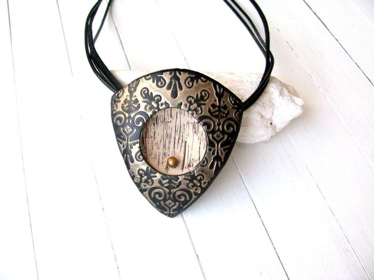 Excited to share the latest addition to my #etsy shop: Boho necklace, Bohemian necklace, Tribal necklace, Geometric Necklace, Art Deco Necklace, Vintage style Necklace, Victorian necklace gift #jewelry #necklace #bronze #ceramic #girls #black #floral #triangle http://etsy.me/2CokXvE