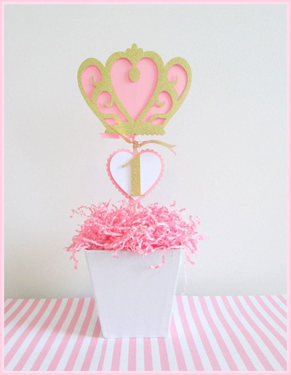 Decoraciones para fiestas de princesa Centros de por LaLaLissyLou