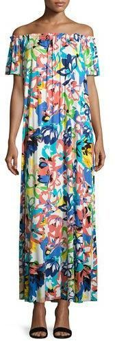 Rachel Pally Ossi Printed Off-the-Shoulder Maxi Dress, Plus Size