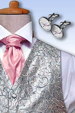 Pink and Silver Wedding Ideas | Pink, Silver, and White for the Men