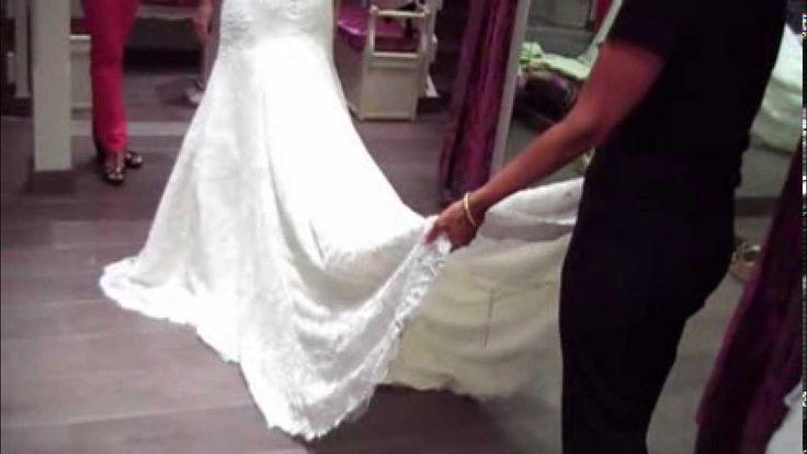 Dar vuelo a la cola del vestido de novia