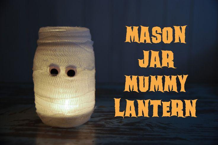 Rambling Renovators: DIY: Mason Jar Mummy Lantern