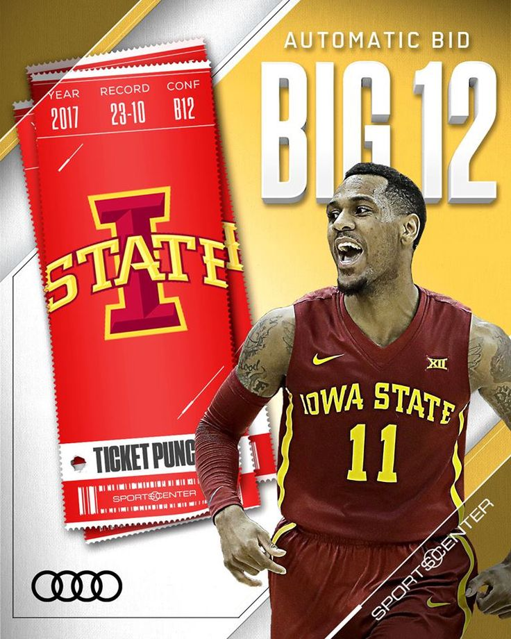 Ticket punched!  No. 23 Iowa State Men's Basketball takes down No. 11 West Virginia, winning its 3rd Big 12 Tournament title in the last 4 years. — with Audi USA.
