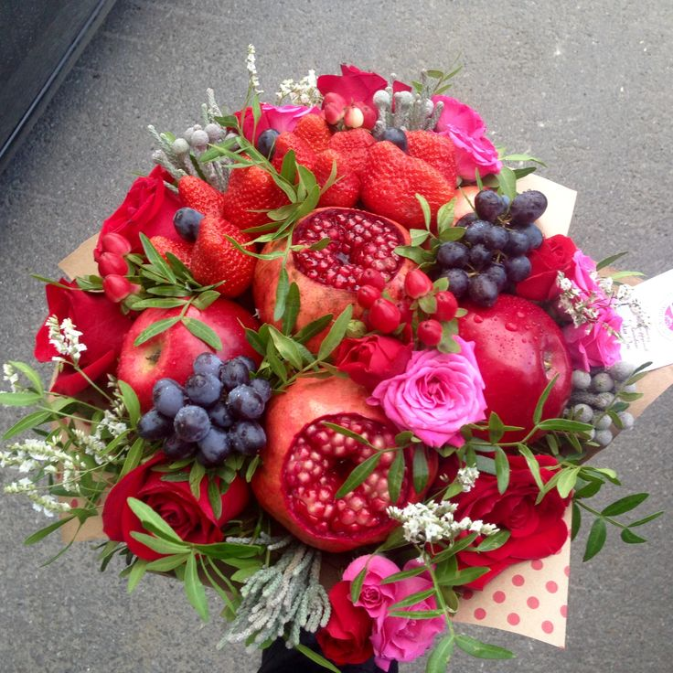 Gorgeous Fruit and Flower Bouquet