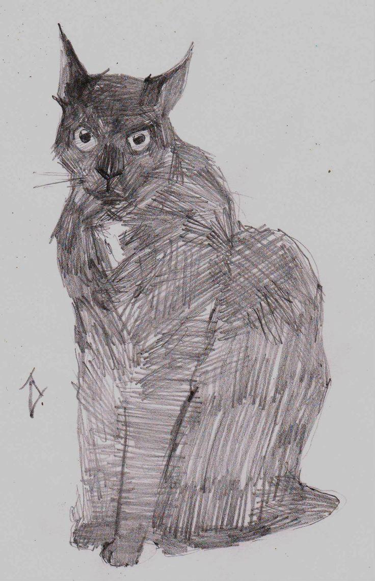 """Кот по кличке """"Бумер"""" Обожаю рисовать этого кота, любая клякса с усами на него похожа"""