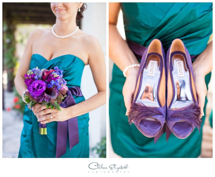 Beautiful For A Purple And Turquoise Wedding!
