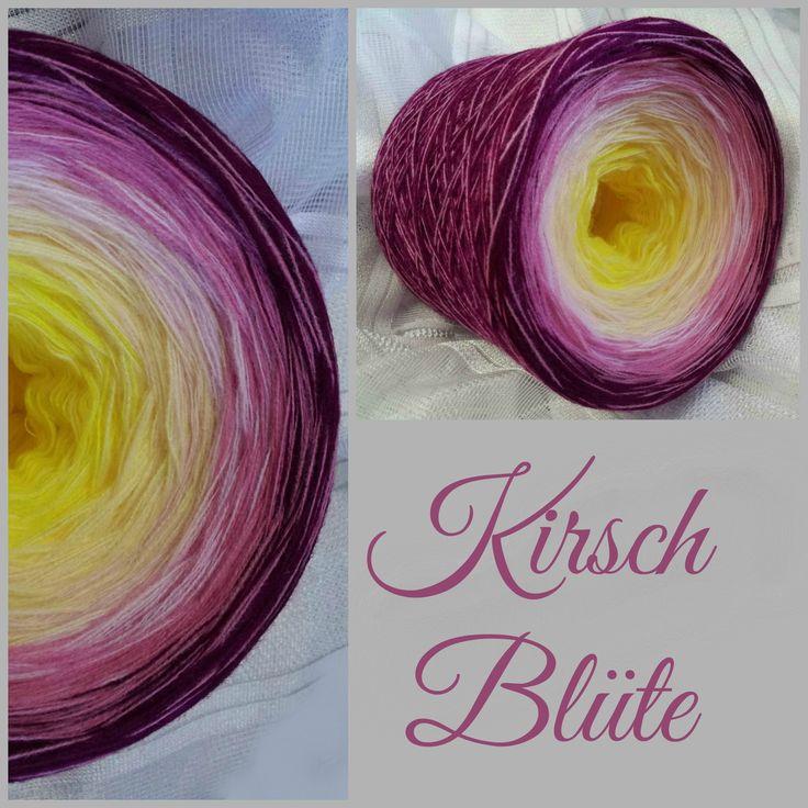 Kirschblüte: Material: Hochbauschacryl 5 Farben: gelb vanille rosa altrosa  beere