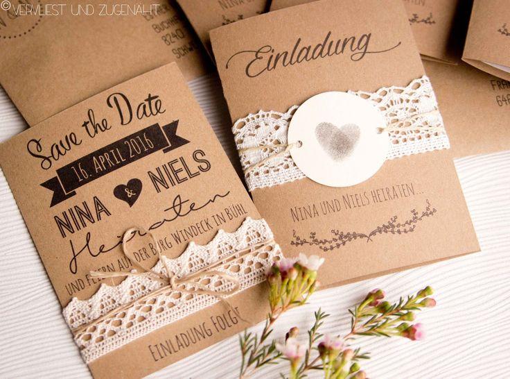 (Please scroll down for the english version of this post)  Genäht hab ich nicht so viel für unsere Hochzeit - aber gebastelt und designt! Na...