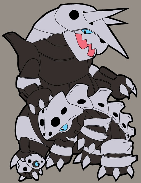 Aron - Lairon - Aggron #304 - #306 evolutions. An under ... Lairon Evolution
