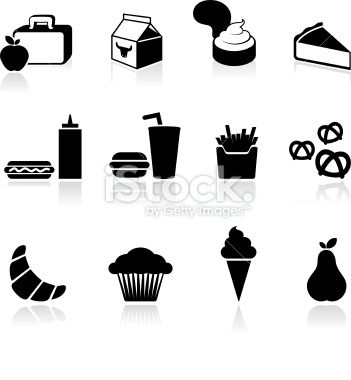 school lunch black and white royalty free vector arts Royalty Free Stock Vector Art Illustration