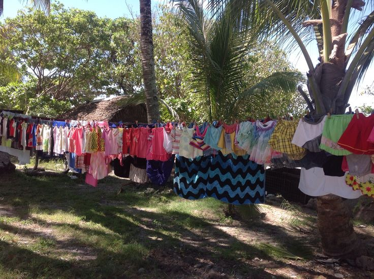 Washing day Tarawa Kiribati