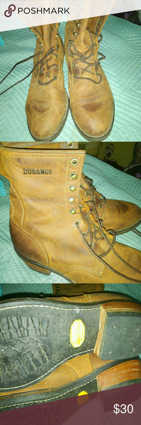 DURANGO men's leather boots DURANGO men's leather boots Great condition!  Vibram non slip soles Oil resistant Size 10.5 Durango Shoes Boots