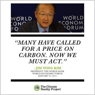 """At the World Economic Forum in Davos, Switzerland, the President of the World Bank, Jim Yong Kim, said """"Many have called for a price on carbon. Now we must act.""""   #jimyongkim #worldbank #carbonprice #priceoncarbon #davos2014 #climatechange #climatescience"""