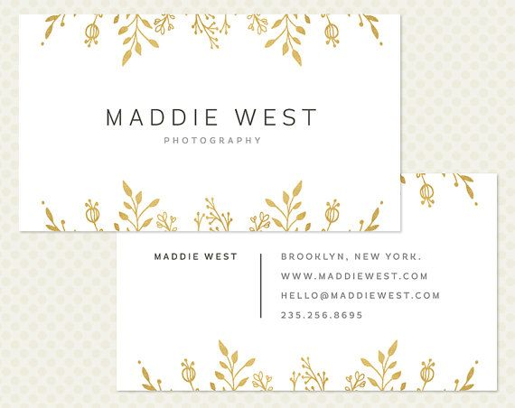 Gold Foil Business Card Design Modern by CrookedLittlePixel