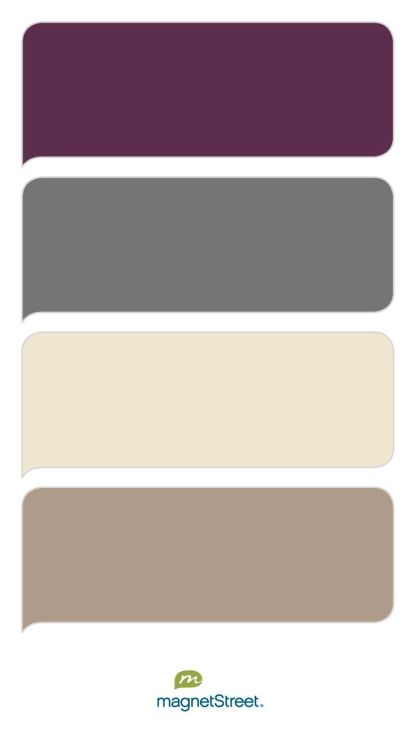 Eggplant, Charcoal, Champagne, and Ashwood - Free Color Swatches ordered at MagnetStreet.com
