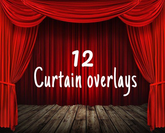 Curtain overlay: stage curtain, theatre curtains, stage background photoshop overlays, beautiful red