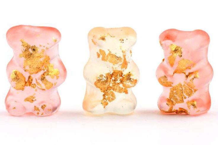 24k Gold Champagne Bears from Sugarfina
