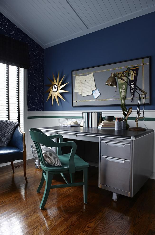 sarah richardson sarah 101 boys bedroom green blue metal desk