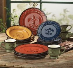 Mediterranean dinnerware and Tuscan dinner sets from Old World Tuscan style in a Trellis Grapevine design & 36 best Dinnerware style images on Pinterest | Dish sets Place ...