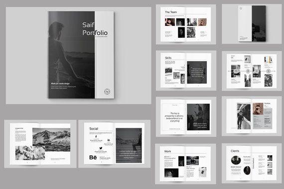 InDesign Portfolio Brochure sjabloon Fotograaf door TemplateStock