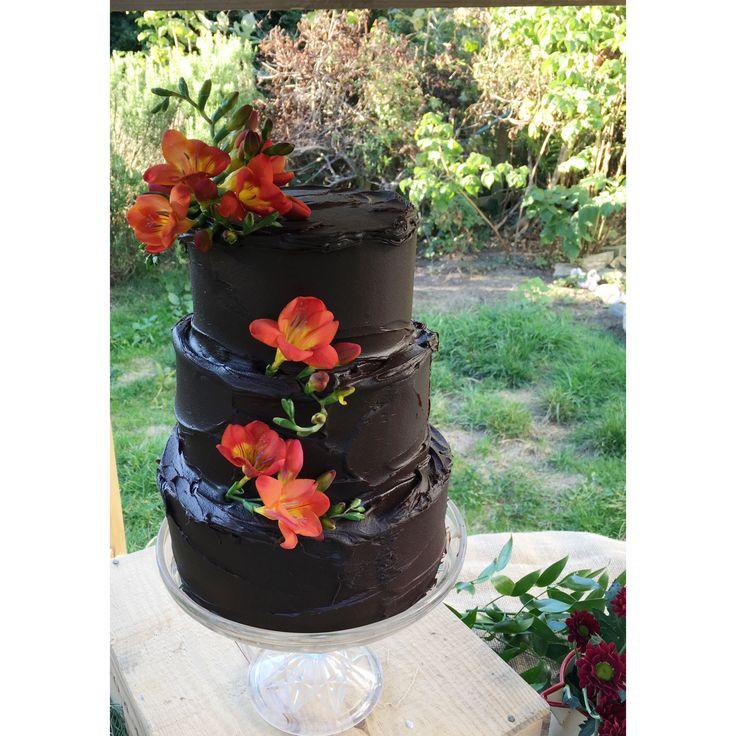 chocolate wedding cake | The Floury