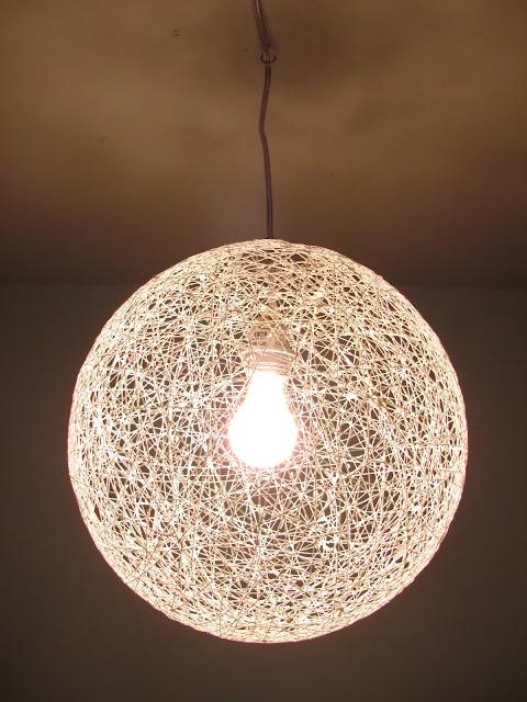 DIY string chandelier using a Pier 1 cord kit