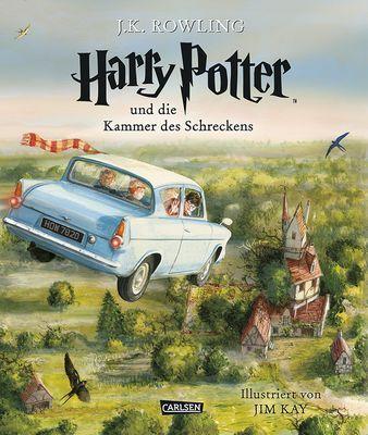 Harry Potter und die Kammer des Schreckens  - vierfarbig illustrierte Schmuckausgabe - Hardcover - 23,10 x 27,30 cm - 272 Seiten - ab 10 Jahren  Die Schmuckausgabe von »Harry Potter und der Stein der Weisen« hat Fans überall auf der Welt verzaubert und ist sofort zu einem internationalen Bestseller geworden. Ein Jahr später folgt nun die von Jim Kay illustrierte Ausgabe von »Harry Potter und die Kammer des Schreckens«. Atemberaubende Szenen und unvergessliche Figuren – darunter Dobby und…