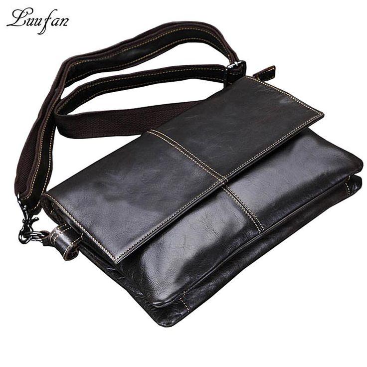 Menu0027s genuine Leather Shoulder Bag genuine leather