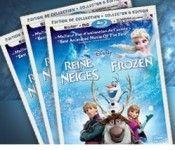 Gagnez 1des 3 coffrets DVD/Blu-Ray du film La Reine des Neiges