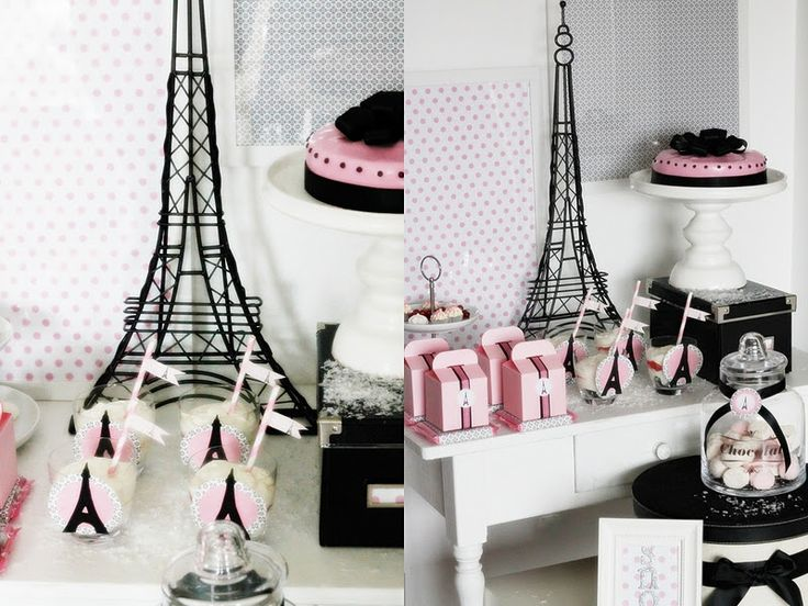 Kara's Party Ideas Paris In The Snow, Winter Birthday Party | Kara's Party Ideas