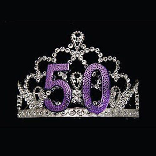 50 th Birthday Tiara with combs Fits Most Ladies #doesnotapply