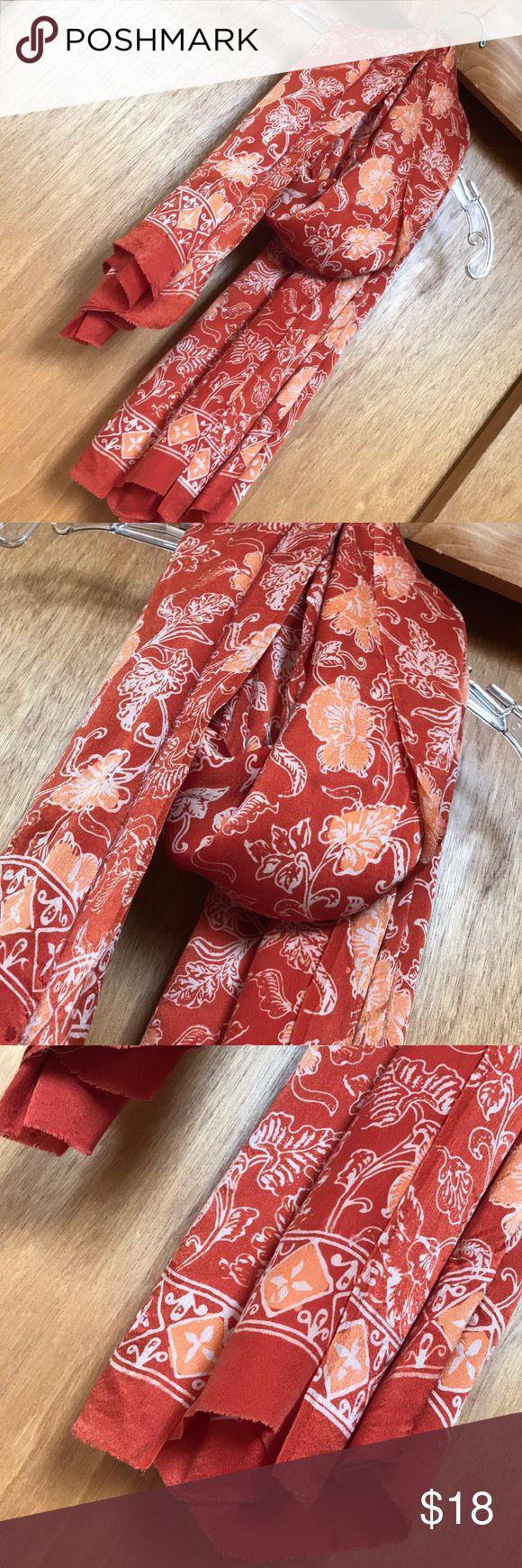 """100% silk scarf/wrap, Sarong 40"""" x 68"""" EUC Use around your neck, use as a sh…"""
