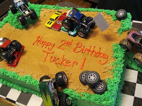 Monster Truck Sheet Cake