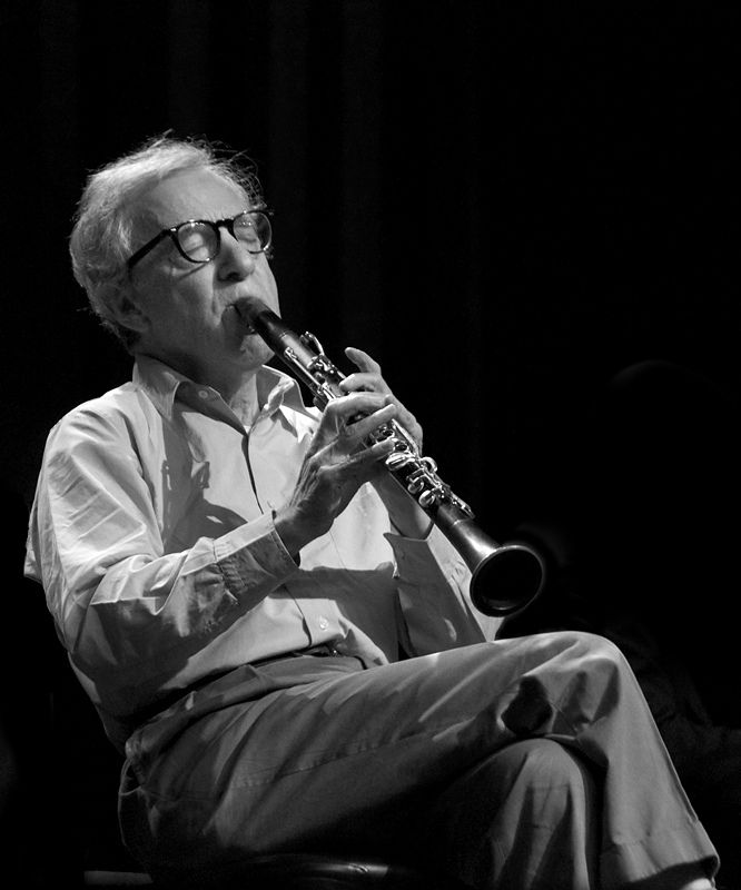 Woody Allen and his clarinet