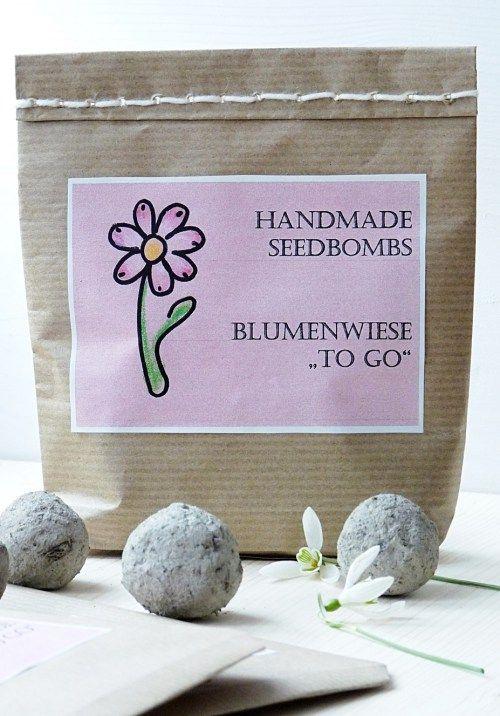 Die Blumenwiese für unterwegs :-) .... wie ihr ganz einfach Samenbomben selber herstellen könnt - DIY Seedbombs