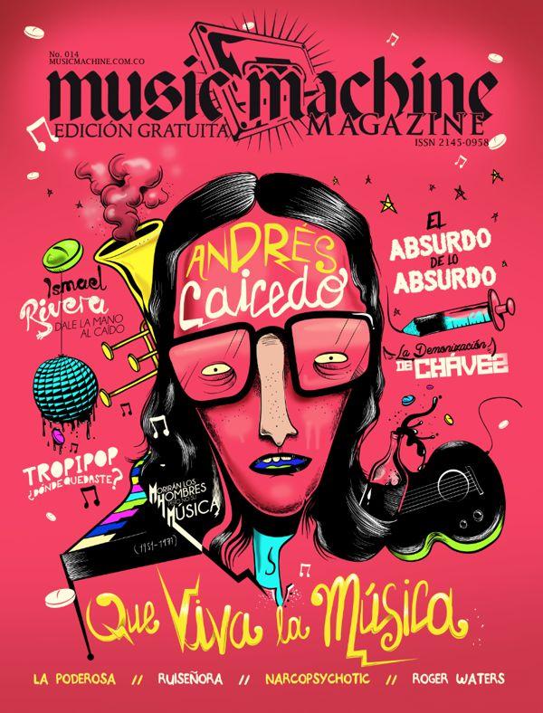 ANDRÉS CAICEDO /PORTADA MusicMachine by cristhian ramírez, via Behance