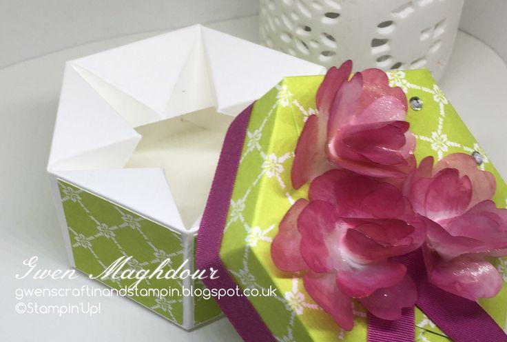 Fresh Florals hexagon Box gwenscraftinandstampin