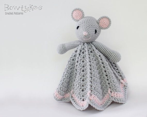 Wee Mouse Lovey CROCHET PATTERN instant download - blankey, blankie, security…