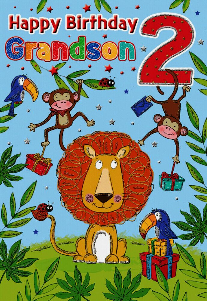 2nd Birthday Card Grandson 2 Today 9 X 6 25 Inches Regal Publishing Regalpublishing Happy Birthday Grandson 2nd Birthday Boys Happy Birthday Greetings