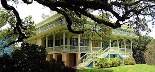 On the banks of the Mississippi River, about a thirty minute drive from Baton Rouge, Hammond, Houma, and New Orleans, stands one of the most remarkable examples of mid-Nineteenth Century Steamboat Gothic architecture in Old Louisiana Colonial Style - The San Francisco Plantation House.