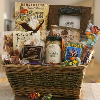 Fishing Gift Baskets: Hook Line and Sinker Fishing Gift Basket @ Design It Yourself Gift Baskets