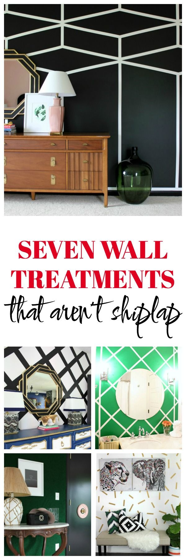 Seven Wall Treatments That Aren't Shiplap: Looking to create an accent wall or…