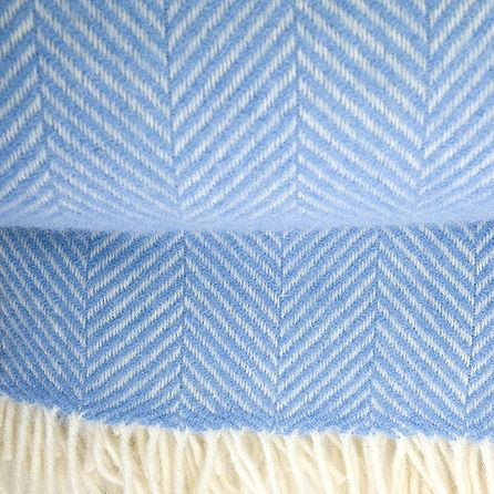 Sea blue Herringbone Rug