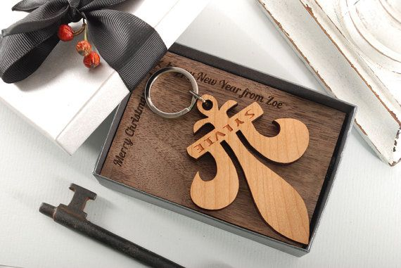 FLEUR DE LIS  ready to give gift box personalized by MoodForWood