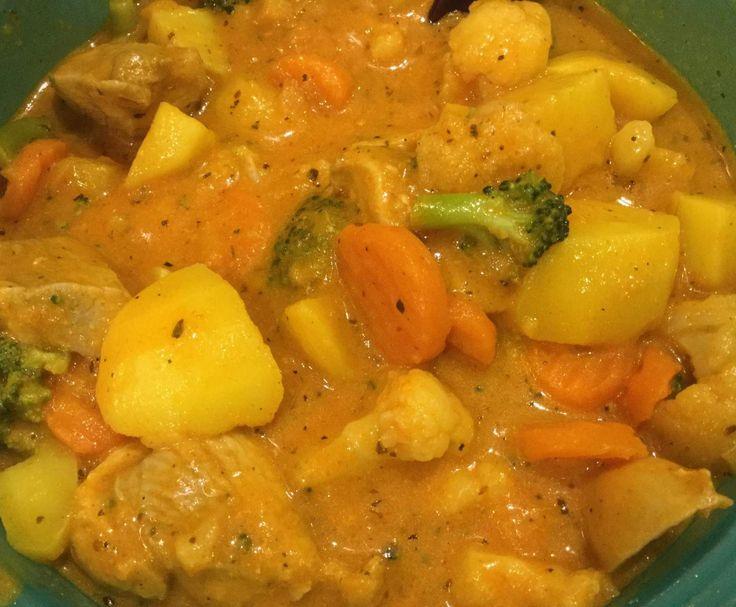 Rezept Puten-Gemüse-Topf (WW Smartpoints) von ThermoTrici - Rezept der Kategorie Hauptgerichte mit Fleisch