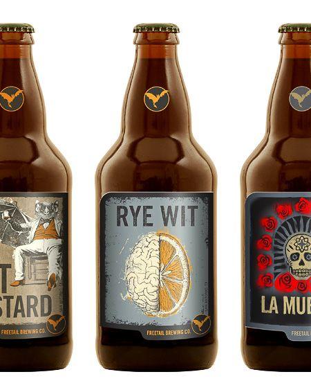 Freetail Brewing Bottles: Graphic Design, Freetail Brewing, Beer Packaging, Smart Design, Beer Labels, Beer Bottles