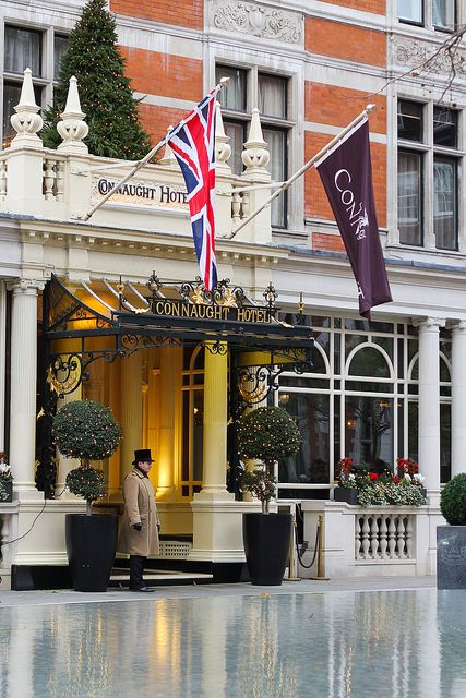LONDON.... MAYFAIR. The Connaught Hotel - first opened in 1815 as the Prince of Saxe Coburg Hotel.