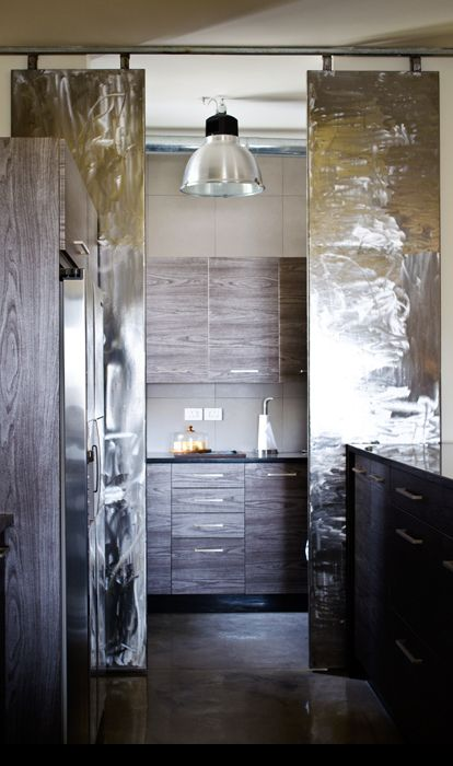The 'dirty' kitchen behind the shiny doors